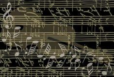 Vecteur musical de fond illustration stock