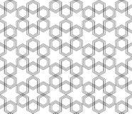 Vecteur musulman arabe hexagonal noir et blanc sans couture de modèle Photos libres de droits