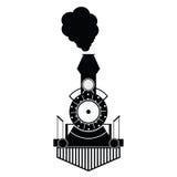 Vecteur noir antique de train Image libre de droits