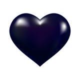 Vecteur noir de coeur illustration stock