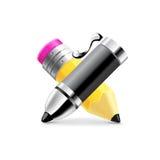 Vecteur noir de stylo et de crayon Images stock