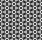 Vecteur noir et blanc de modèle de répétition et fond d'image sans couture images libres de droits