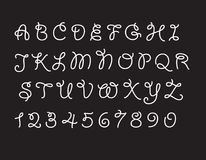 Vecteur noir et blanc de police abstraite moderne et d'alphabet illustration libre de droits