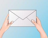 Vecteur obtenu de symbole de courrier Image stock