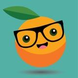 Vecteur orange de Kawaii de bande dessinée - bande dessinée Kawaii de nourriture Photographie stock libre de droits