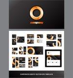 Vecteur orange de logo de cercle d'identité d'entreprise Photo libre de droits