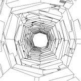 Vecteur ornemental abstrait 162 de trou Image libre de droits