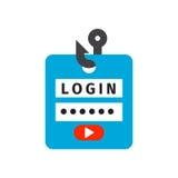 Vecteur ouvert de forme d'accès d'élément d'intimité de signe de mot de passe de sécurité de protection de sécurité d'icône de se Image stock