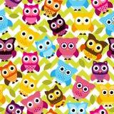 Vecteur Owl Background Pattern sans couture et de Tileable Photos libres de droits