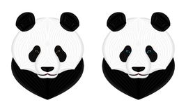 Vecteur Panda Bear, illustration de vecteur de Panda Head Images stock