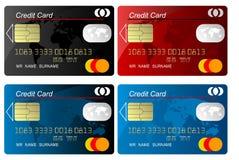 Vecteur par la carte de crédit Image libre de droits