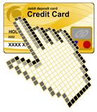 Vecteur par la carte de crédit de cliquetis Photos stock