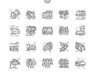 Vecteur parfait de pixel Bien-ouvré par train de vide illustration libre de droits