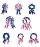 Vecteur patriotique américain Rosette Award Certificate Background Collection illustration de vecteur
