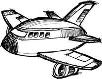 vecteur peu précis enorme d'avion à réaction illustration stock
