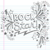 Vecteur peu précis Illustratio de griffonnages de musique de vedette du rock Photo libre de droits