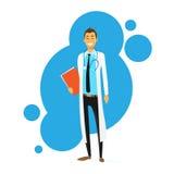 Vecteur plat d'icône de docteur Cartoon Smile Man illustration stock