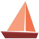Vecteur plat d'isolement Icône en bois de bateau illustration libre de droits