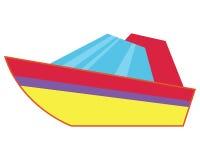 Vecteur plat d'isolement par lancement Icône de bateau illustration libre de droits