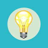Vecteur plat de conception d'ampoule illustration de vecteur