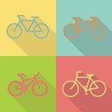 Vecteur plat de conception d'icône de bicyclette Photo stock