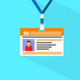 Vecteur plat de photo de données de profil de carte d'identification Photos stock