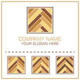 Vecteur plat de style Logo Laminate/parquet pour Flooring Company illustration libre de droits