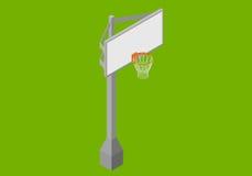 Vecteur plat isométrique de panneau arrière de basket-ball Images libres de droits