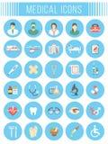 Vecteur plat médical et icônes de soins de santé Photos libres de droits