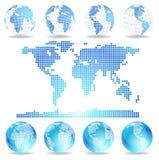 vecteur pointillé de carte de globes Illustration Stock