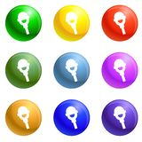 Vecteur politique d'ensemble d'icônes de haut-parleur illustration de vecteur