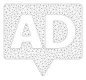 Vecteur polygonal Mesh Illustration de cadre de bannière d'annonce illustration de vecteur