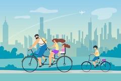 Vecteur positif de santé d'effet de mode de vie actif illustration libre de droits