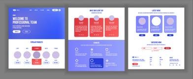 Vecteur principal de conception de page Web Écran d'affaires de site Web Calibre d'atterrissage Idée d'innovation Ingénieur Devic illustration libre de droits