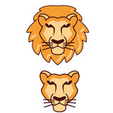 Vecteur principal de logo de lion illustration stock