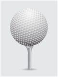 Vecteur réaliste de balle de golf Image d'équipement de golf simple sur la boule de cône illustration libre de droits