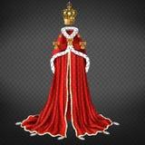 Vecteur réaliste de tissu cérémonieux médiéval de monarque illustration de vecteur
