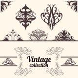 Vecteur réglé : éléments calligraphiques de conception de vintage. Photos libres de droits