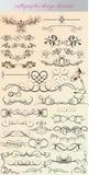Vecteur réglé : éléments de conception et décoration calligraphiques de page - l Photographie stock libre de droits