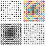 100 vecteur réglé d'émotion par icônes variable illustration libre de droits
