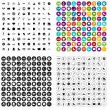 100 vecteur réglé d'équipe de sport par icônes variable Photos stock