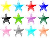 Vecteur réglé d'étoile lustrée Image libre de droits