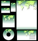 Vecteur réglé d'affaires d'écologie Image stock