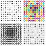100 vecteur réglé d'exposition de sports par icônes variable Photographie stock libre de droits