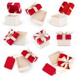 Vecteur réglé de boîte-cadeau Photo libre de droits