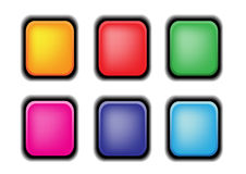 Vecteur réglé de bouton Photos stock