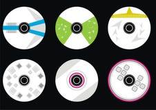 vecteur réglé de Cd Image stock