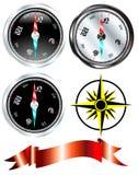 Vecteur réglé de compas en acier Image libre de droits