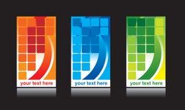 Vecteur réglé de conception de carte de visite professionnelle de visite Image stock