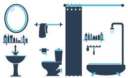 Vecteur réglé de conception de toilette de salle de bains Image stock